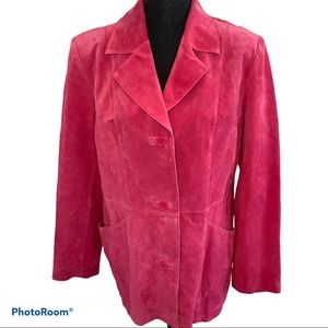 Dialogue 100% Suede Leather Jacket Size L | NWT